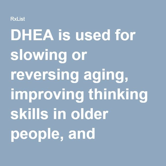 DHEA is used for slowing or reversing aging, improving thinking skills in older people, and slowing the progress of Alzheimer's disease.  Athletes and other people use DHEA to increase muscle mass, strength, and energy. But DHEA use is banned by the National Collegiate Athletic Association (NCAA).  DHEA is also used by men for erectile dysfunction (ED), and by healthy women and women who have low levels of certain hormones to improve well-being and sexuality.