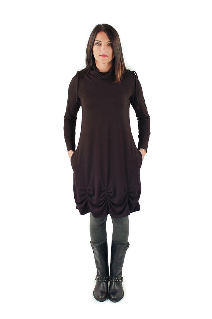 Lousje & Bean's Ruby Dress in Black Viscose
