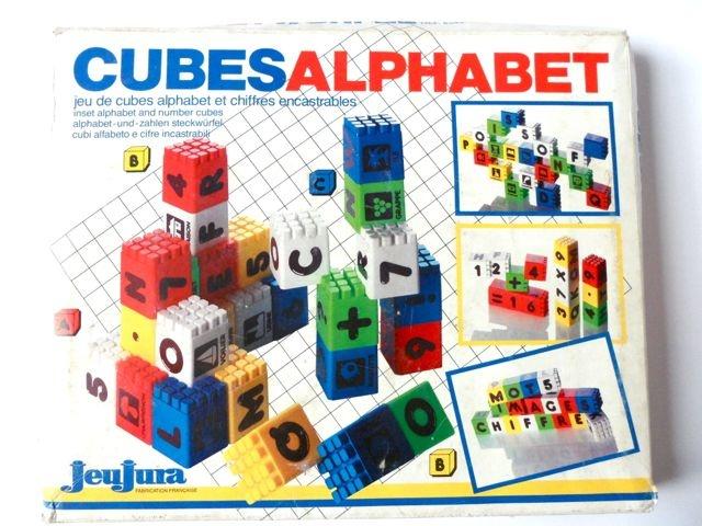 Cubes alphabet Jeujura vintage