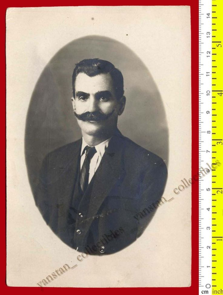 #21352 Greece 1910s. Man with mustache. Photo