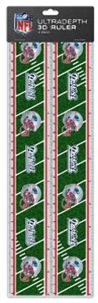 NFL New England Patriots 2pk 3-D Ruler Case Pack 72