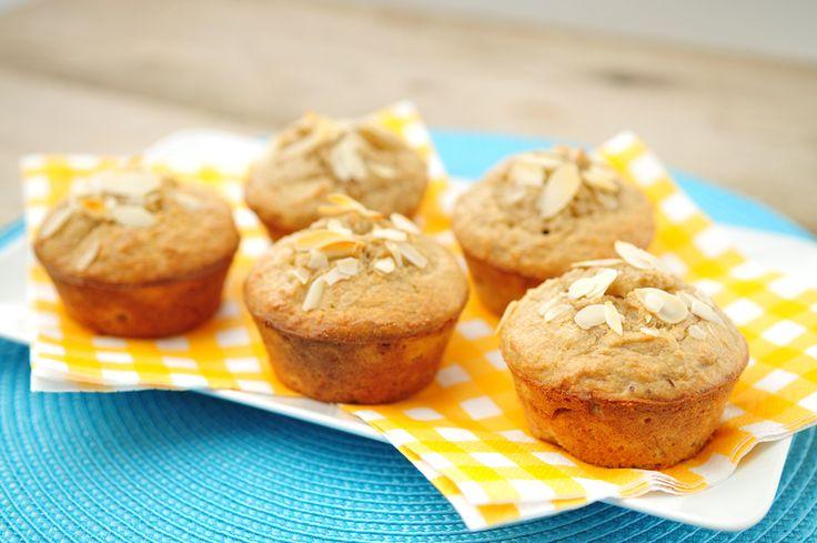 Bananen cupcakes van amandelmeel  23  Vind je het leuk om cupcakes te maken, maar wil je ook verantwoord snacken? Het lijkt bijna onmogelijk...