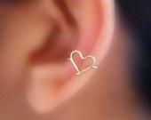 <3 ear cuff!: Most Popular Pin, Clothing, Cuffs Earrings, Piercing, Ear Cuffs, Sweet Heart, Heart Ears, Earcuff, Ears Cuffs