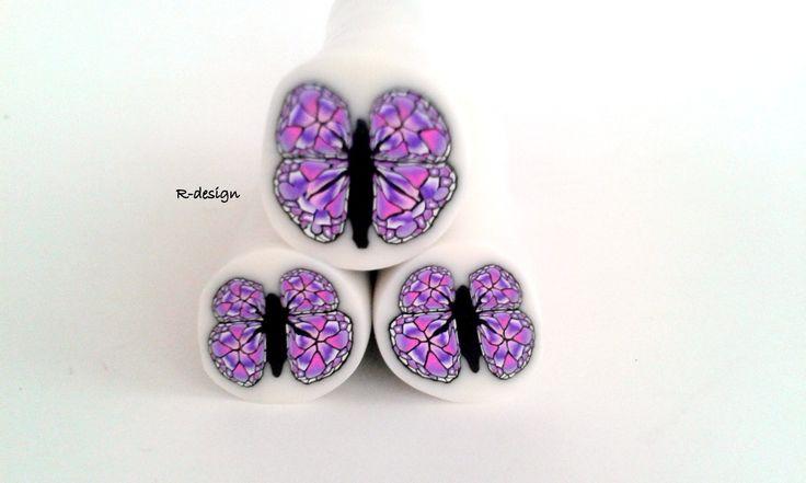 Purple butterfly cane