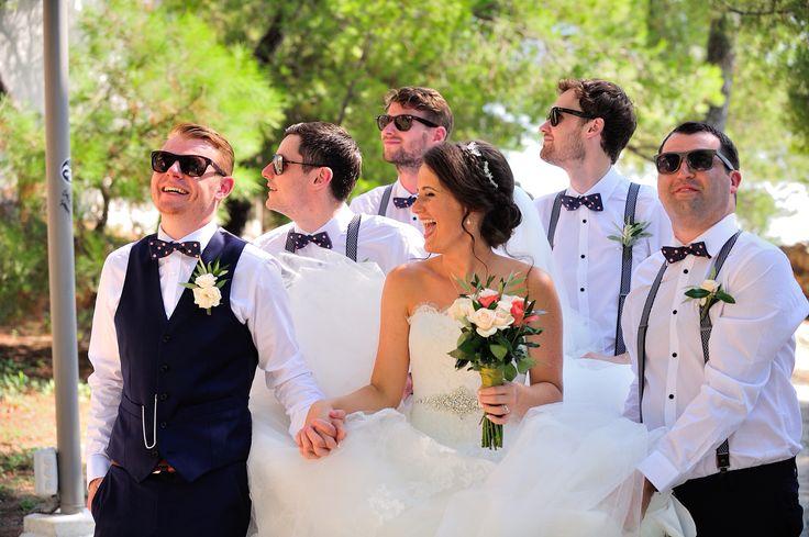 Thanks boys! Ushers & Groom - Skiathos Wedding