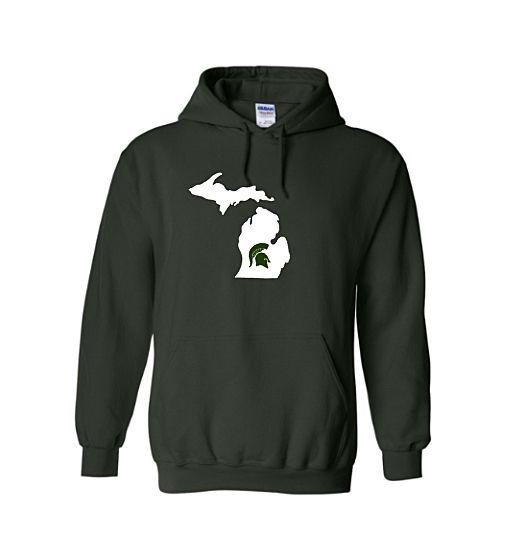 Buy Now.  MSU Spartan Michigan Mitten hoodie. https://royalmajestees.com/product/msu-spartans-michigan-hoodie/   $35.00 #msu #spartans #michigan #state #university #spartans #mitten #hoodie #clothes #clothing #apparel #fashion #football #basketball #fan #gear #tailgate