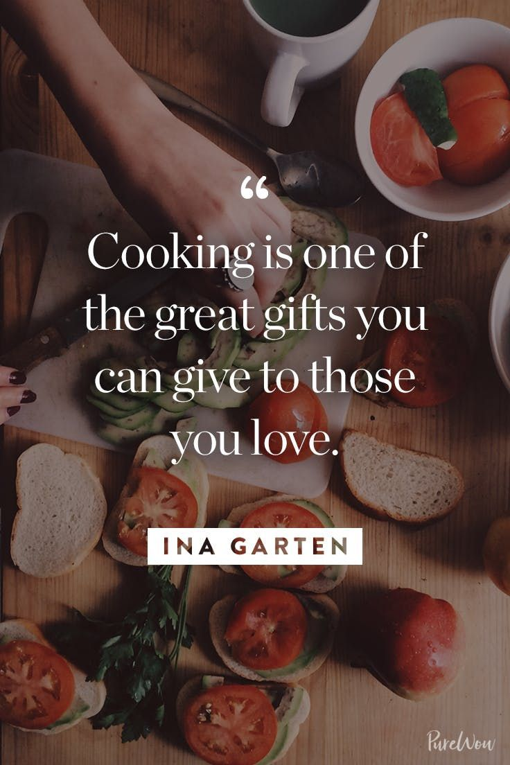 10 Ina Garten Quotes About Cooking, Entertaining and Enjoying Life via @PureWow
