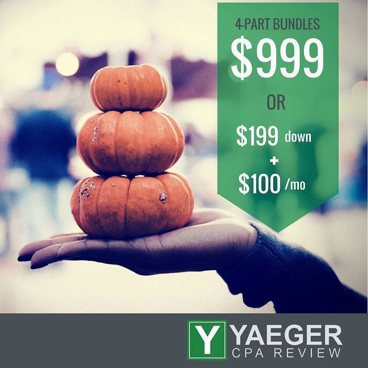 """Start fresh this November. It's time to PASS the #CPAExam.   Join #TeamYaeger today and let us help YOU! """"Yaeger CPA Review is the best value on the market right now. The video lectures did a good job of teaching me what I needed to know without including unnecessary information."""" - Brendan S. (10/31/2017)  Learn more: http://ift.tt/1Hz7vop"""