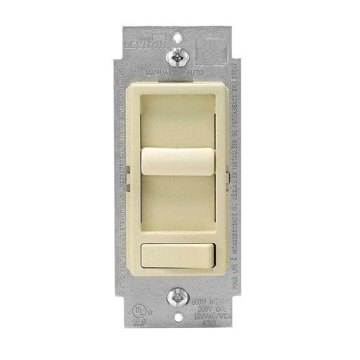 Gradateur universel SureSlide pour lampes à incandescence, à DEL et fluo. réglables, blanc