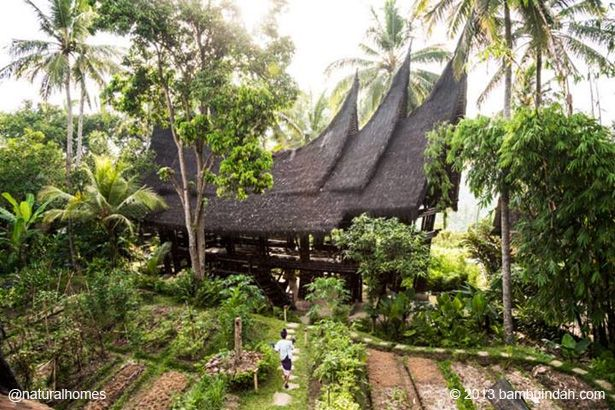 This is one of the buildings at Bambu Indah, a hotel resort in Bali owned by John Hardy of Green School fame.