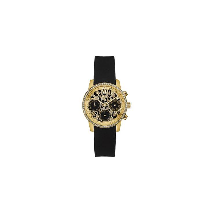 Guess Time To Give W0023L6 Nowy, dedykowany fundacji Faces to Watch – Time To Give zegarek,  wyjątkowy model na miarę jubileuszu 10letniej działalności charytatywnej GUESS. Stanowi połączenie złota i czerni z elegancją, którą podkręcają kryształy na kopercie oraz rzymskie cyfry na tarczy. W całym projekcie nie mogło zabraknąć mocnego, modowego akcentu tak bardzo lubianego przez amerykańską markę – wzoru pantery na tarczy.