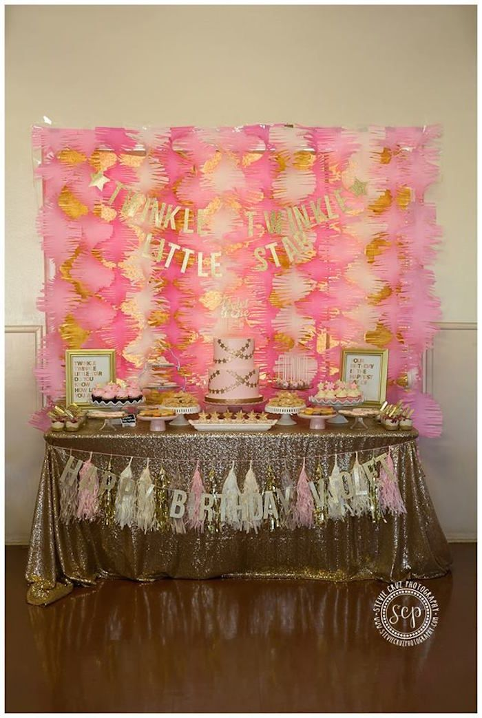 Pink + Gold Twinkle Star Party via Kara's Party Ideas KarasPartyIdeas.com (30)