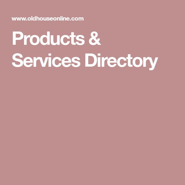 Products & Services Directory