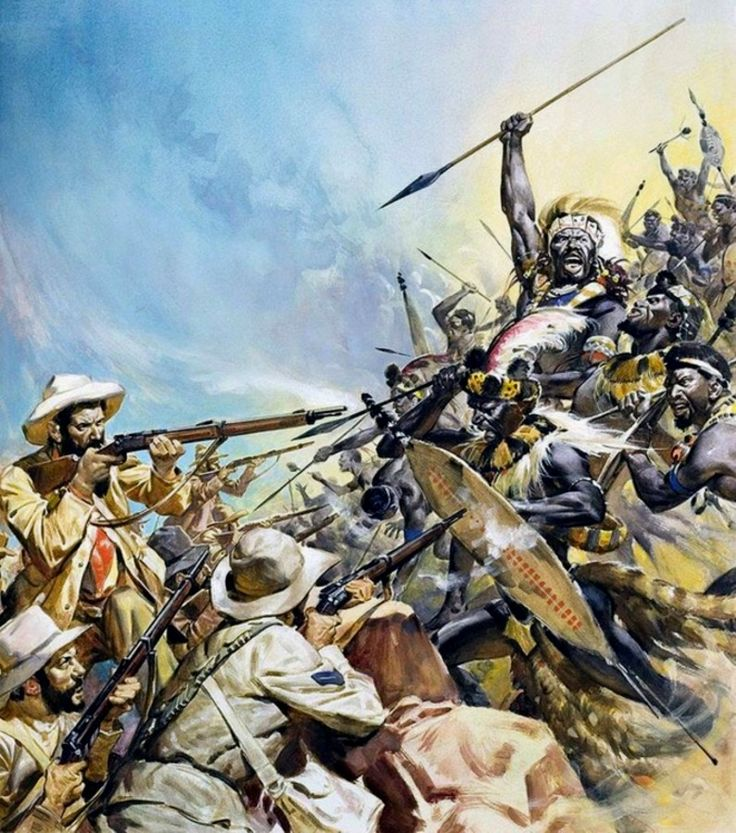 Boers fighting the Zulu