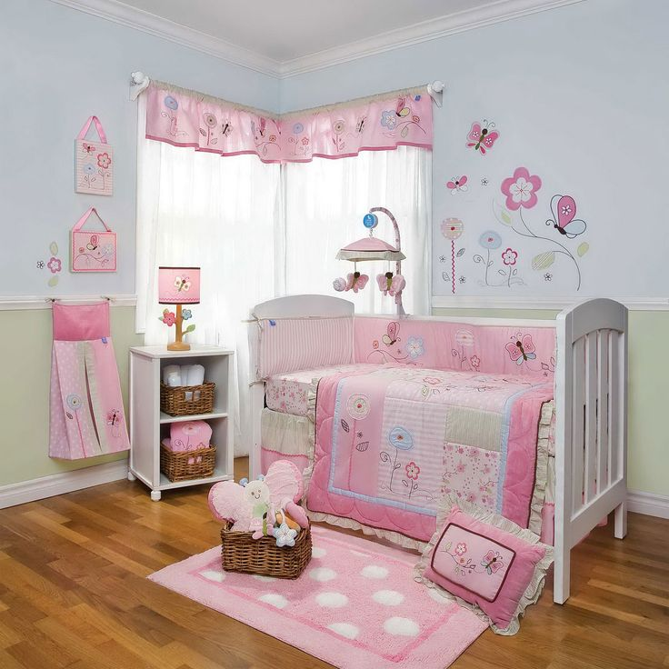 Cute Baby Girls Room Pictures Collection 2014 : Sweet Light Blue Baby Girls  Room Design Inspiration