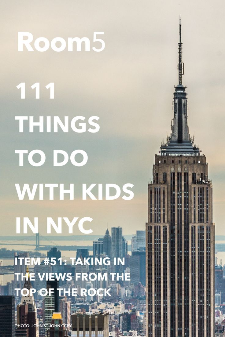 Take in the view from the Top of the Rock: #51 in 111 things to do with kids in NYC...