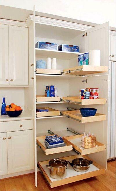 Amazing 56 Useful Kitchen Storage Ideas : 56 Useful Kitchen Storage Ideas With White Wooden Kitchen Table Storeage Cabinet Appliance Hardwoo...