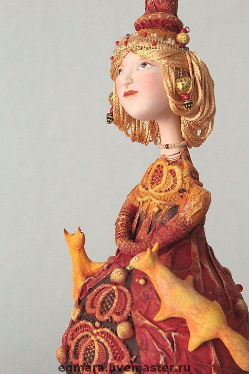 """Купить Кукла-шкатулка """"Девочка с белочками"""" - авторская кукла, коллекционная кукла, кукла-шкатулка"""