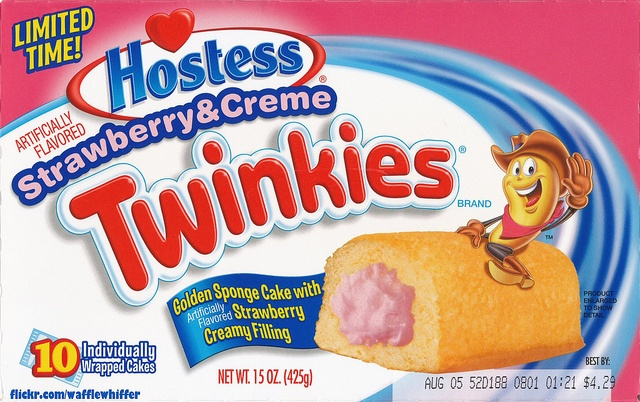 Hostess Twinkies - Strawberry - July 2011 by Waffle Whiffer, via Flickr