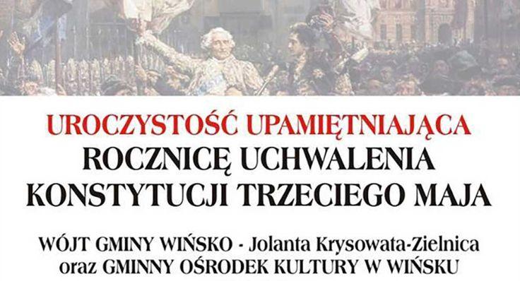 Zaproszenie na obchody Święta Konstytucji Trzeciego Maja w Wińsku