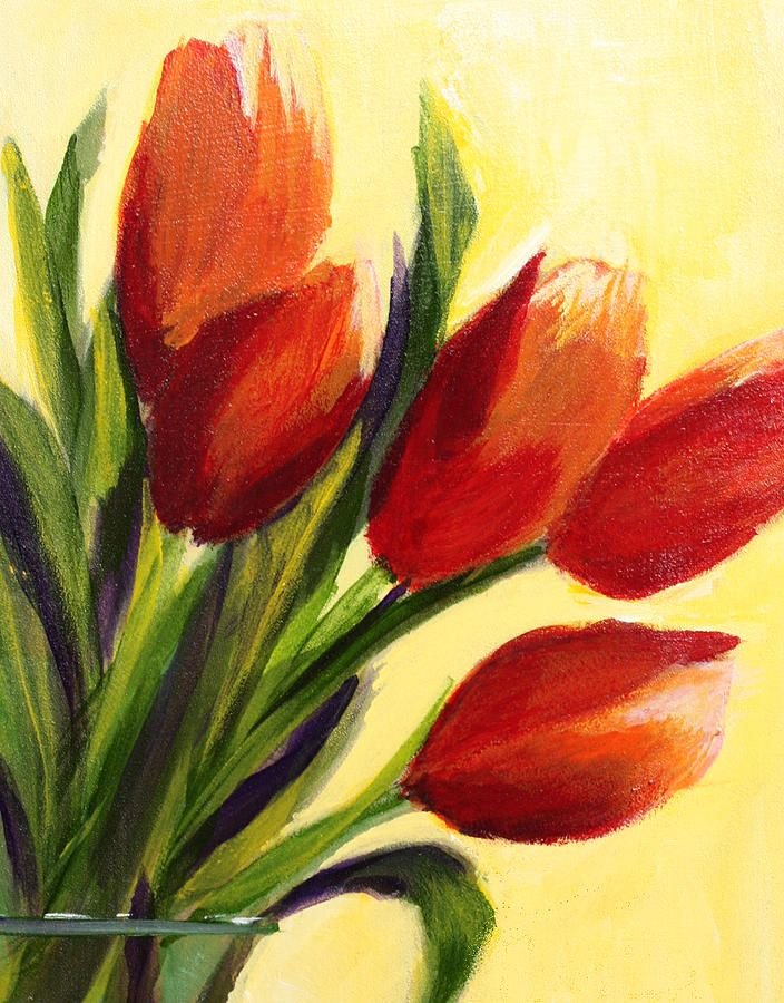 Tulips Painting by Rose Welty