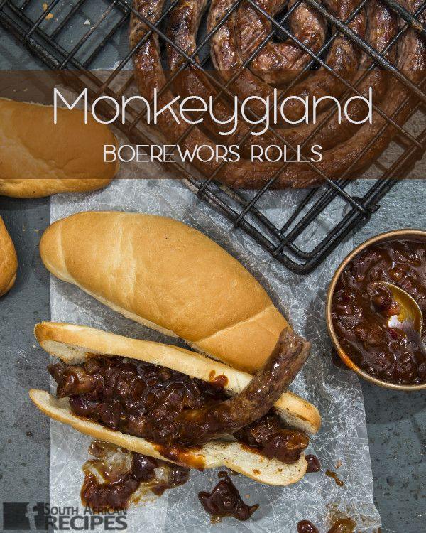 South African Recipes | Monkeygland Boerewors Rolls