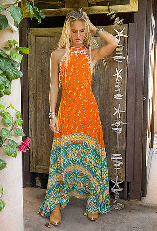 Australian Boho Clothing Store Drifter Maxi Dress Saraswati