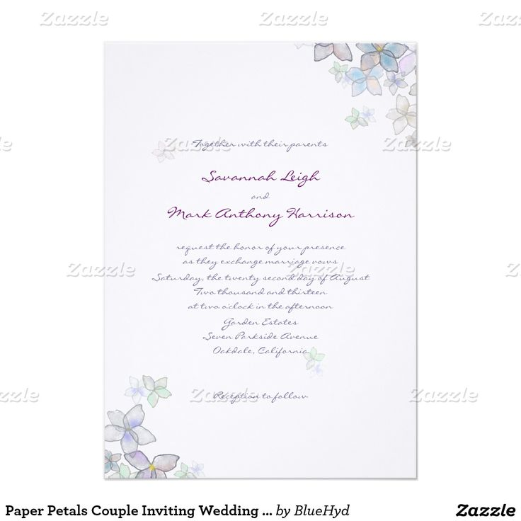52 best ♥ Floral Wedding Invitations ♥ images on Pinterest Rose - fresh invitation card plain