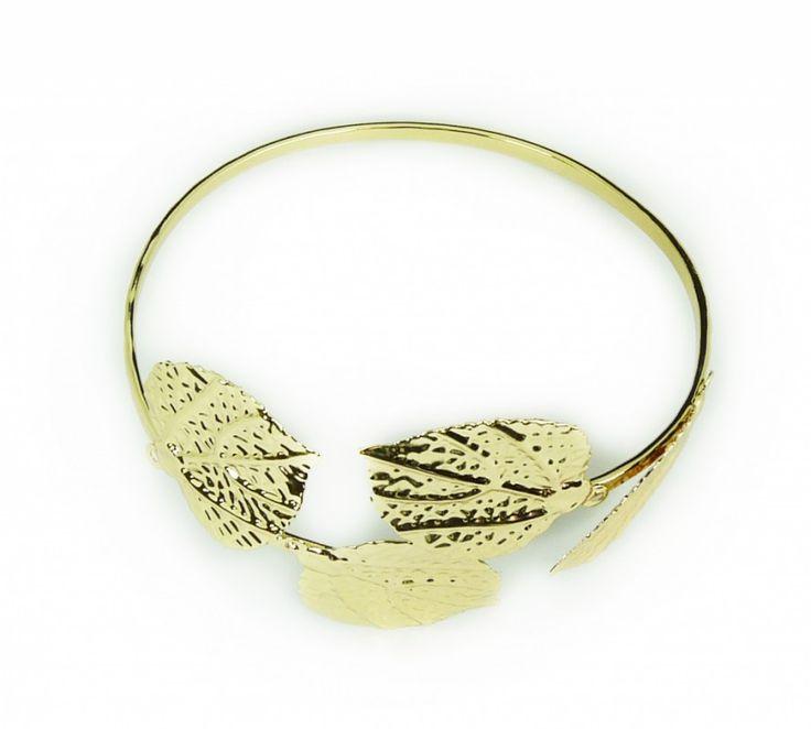 Nápažník / náramek na paži zlatý listy 41467-1 | Bižuterie Kozák
