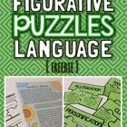 """Give your students hands-on practice with literacy devices with these 8 figurative language puzzles. Students will read """"Grandma's Garden"""", identif..."""