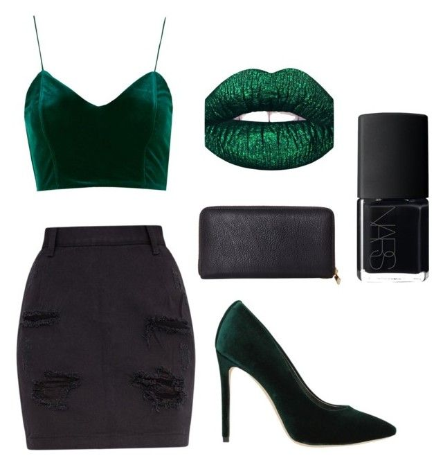 """""""GREEN"""" by froogface ❤ liked on Polyvore featuring Marc Ellis, LunatiCK Cosmetic Labs, Humble Chic and NARS Cosmetics"""
