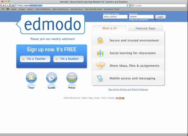 Edmodo Video Tutorial If you have never heard of it and you are teaching you should really look into it and use it...kids learn how to use it quickly esp if they do Facebook and I love it for giving assignments and even grading..please check it out..it's FREEEEEEE!!!
