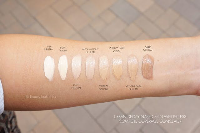 Urban Decay Naked concealer swatches