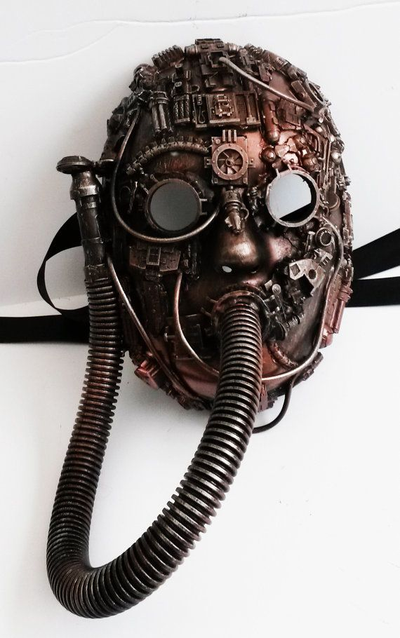 Smoked Glass Goggles steampunk respirator mask, - Steampunk Steampunk Clothing…
