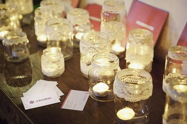 centros de mesa para boda con frascos - Buscar con Google