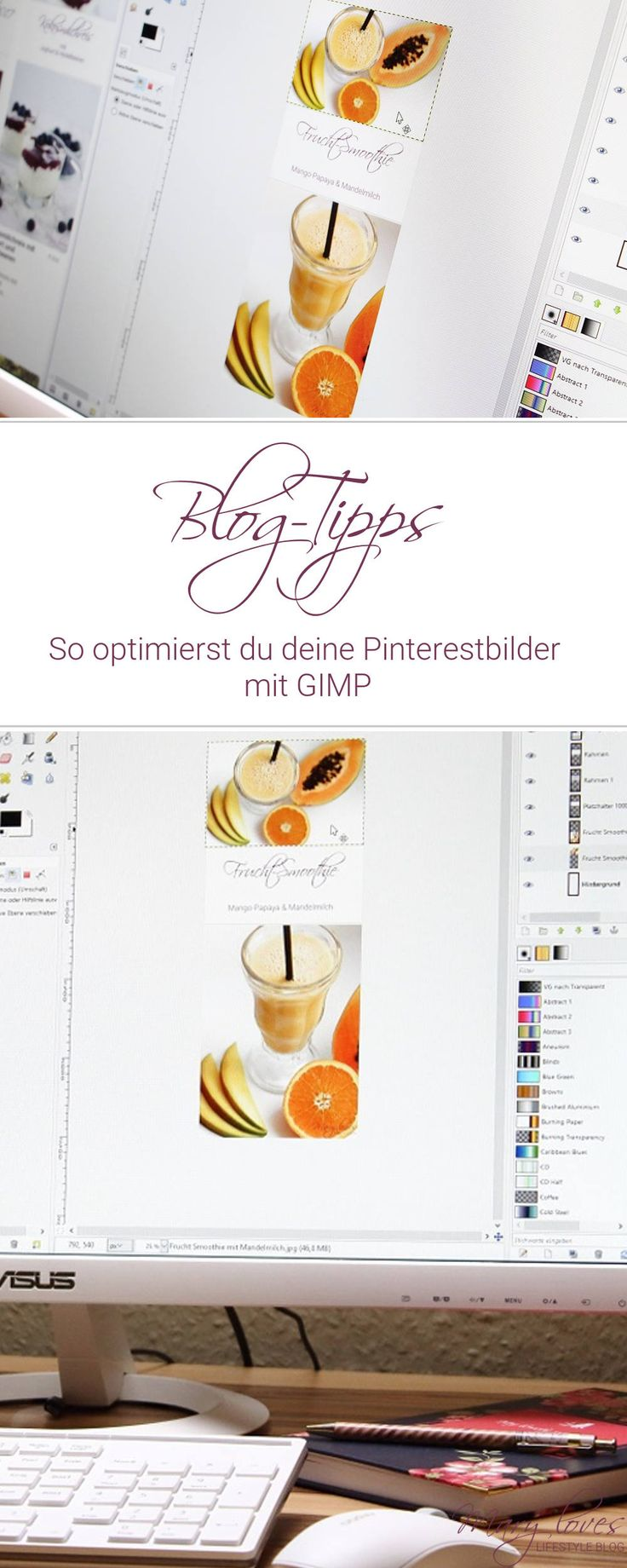 Pinterest - Pinterestbilder optimieren mit GIMP - Tutorial - Blog-Tipps - Blogging - Anleitung If you want to enjoy the Good Life: making money in the comfort of your own home with your photography, then this is for YOU … http://photographyjobs-net.blogspot.com?prod=RsJpBkig