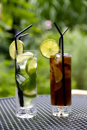 maybe plum or berry mojitos and regular cuba libres