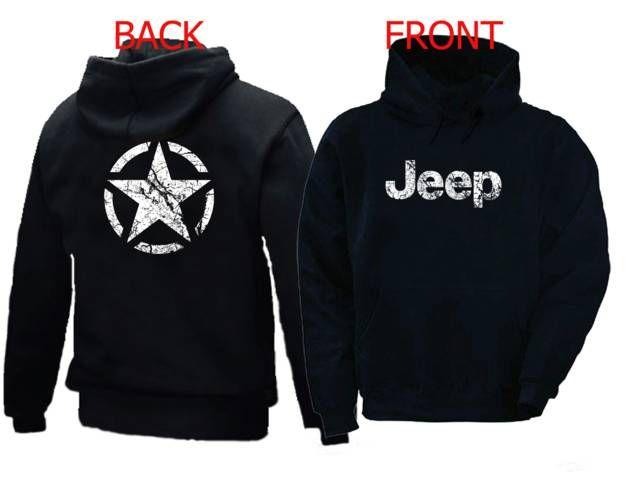 WW2 Jeep Broken Star vintage distressed look hoodie 2