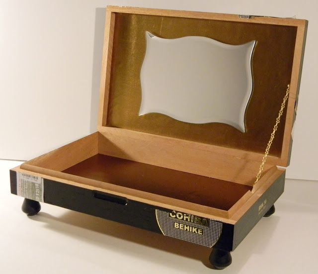 With Our Powers Combined: Jewelry Box from Repurposed Cigar Box