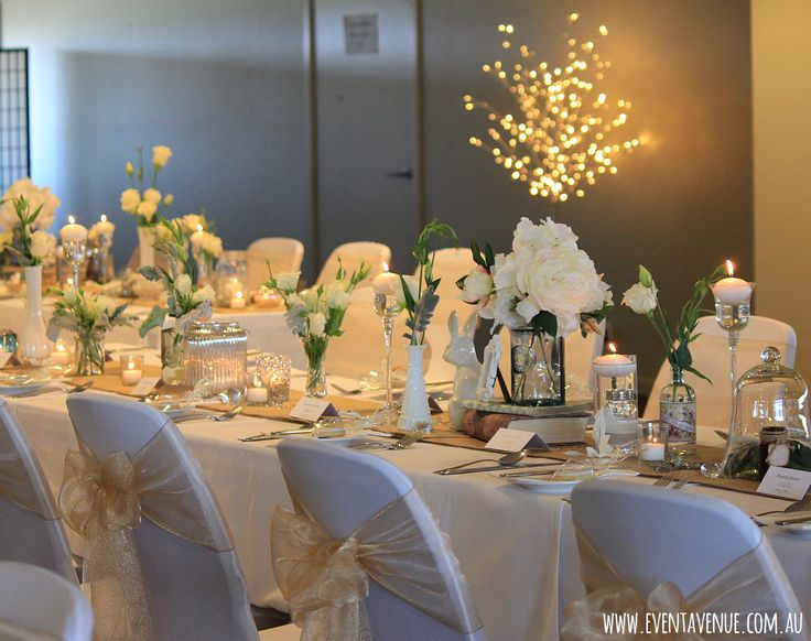 """""""Vintage wedding ideas – mixed vintage style, garden flowers with candles and fairy lights"""""""