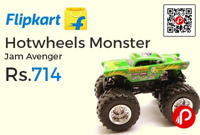Flipkart is offering 35% off on Hotwheels Monster Jam Avenger at Rs.714 Only. 3 – 5 Years Age Group, Thailand Manufactured, Product Width 8.2 inch * Height 5.51 inch * Depth 17.51 inch, 627 gm Weight.  http://www.paisebachaoindia.com/hotwheels-monster-jam-avenger-at-rs-714-only-flipkart/