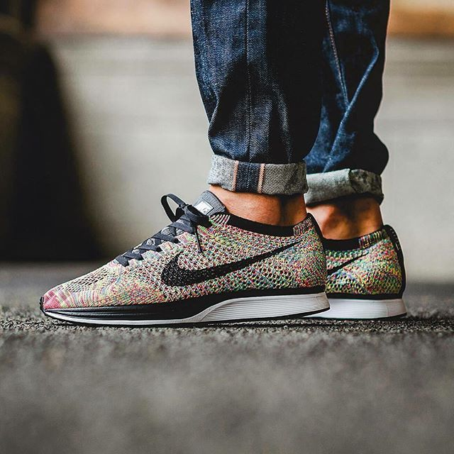 #hypefeet: Who's ready for the @nike Flyknit Racer Rainbow drop today? Photo: @titoloshop