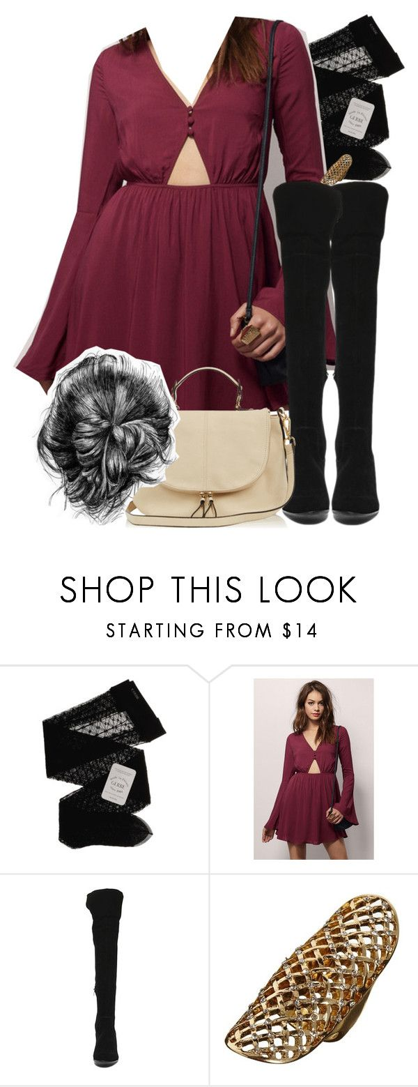 """""""Allison Inspired Outfit with Requested Boots"""" by veterization ❤ liked on Polyvore featuring Gerbe, Tobi, Steve Madden, ASOS and Oasis"""