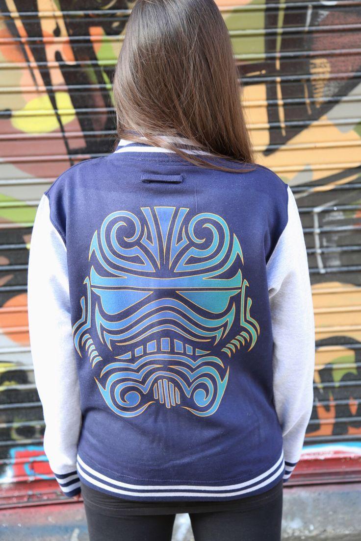 Star Wars 'Tatt Head Trooper' Adults Varsity Jacket (Unisex) by UrbanSpecies on Etsy https://www.etsy.com/listing/254556933/star-wars-tatt-head-trooper-adults