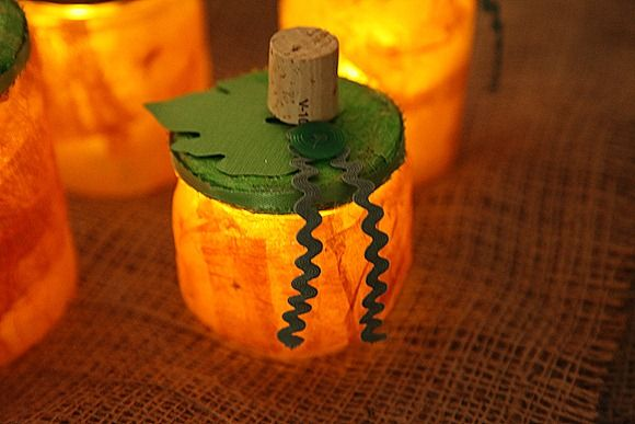 A fantastic, festive way to up-cycle your jars!