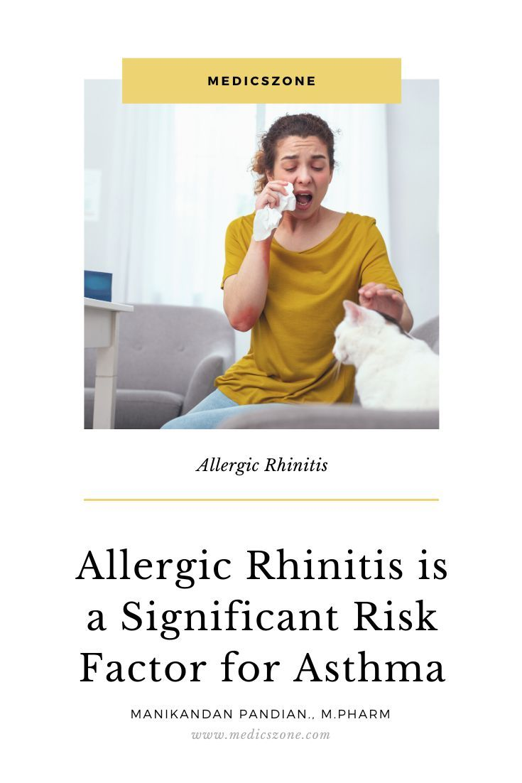 Allergic Rhinitis Is A Significant Risk Factor For Asthma Allergic Rhinitis Asthma Atopic Dermatitis