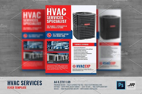 Heating And Cooling Services Flyer Flyer Flyer Template Flyer Design Templates