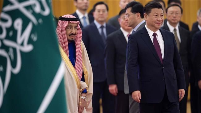 Seeking bigger Mideast role, China hosts Saudi king. Saudi Arabia's King Salman bin Abdulaziz Al Saud has paid a visit to China amid Beijing's efforts to play a more active economic and diplomatic role in the Middle East.Saudi Arabia has sought to increase oil exports to China by working mostly with the Asian country's top three state oil firms after it lost market share to Russia in 2016.