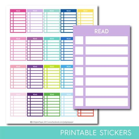 Read stackable stickers, Read checklist stickers, Read stickers, Read planner stickers, Read full box, Read sidebar, STI-287