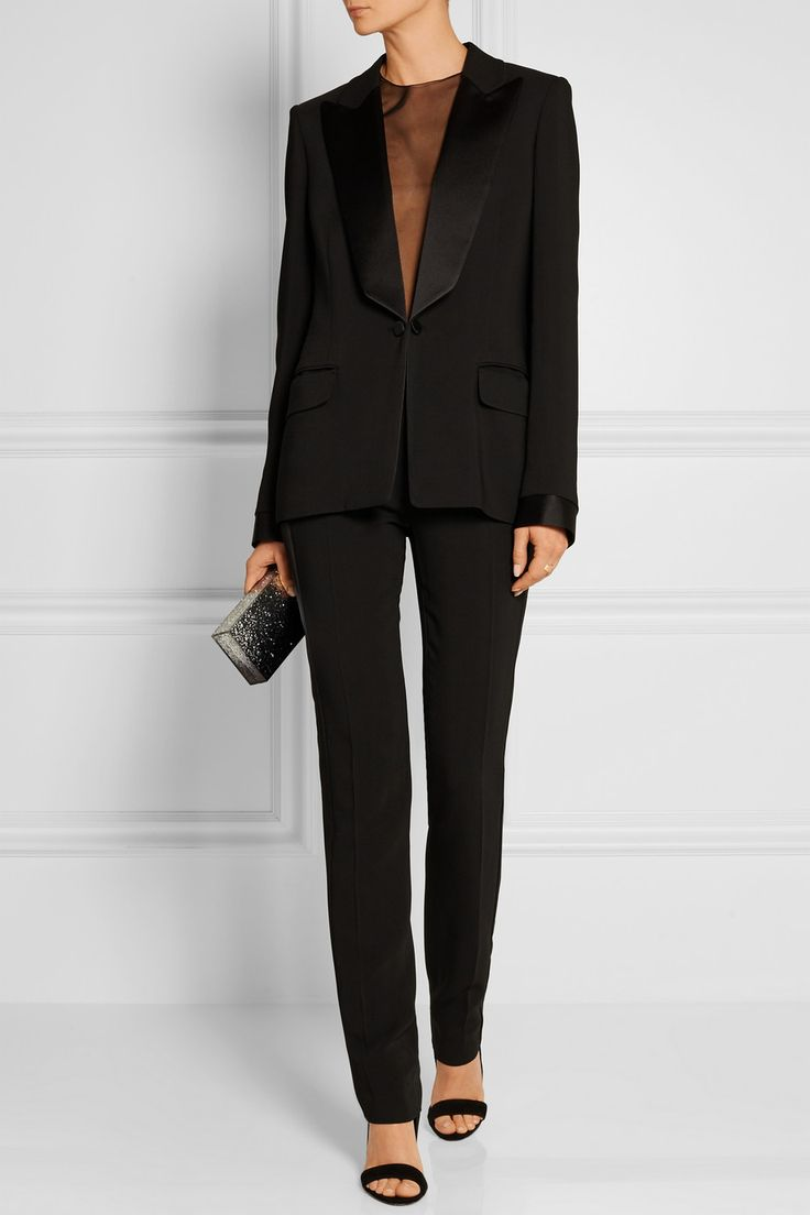 Tom Ford Satin-trimmed stretch-cady tuxedo jacket
